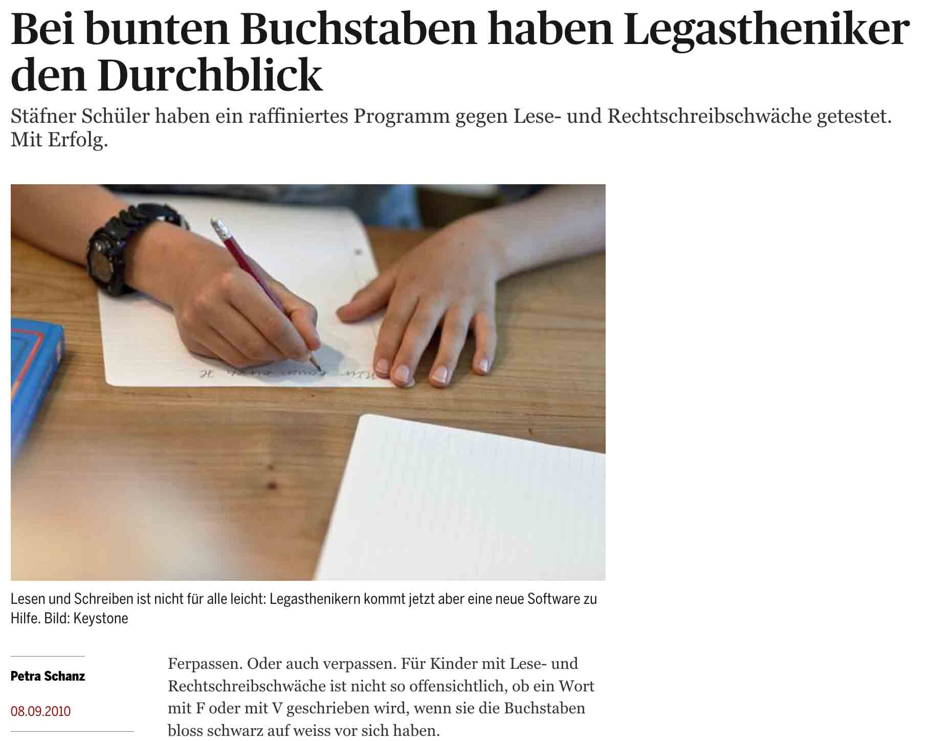 Tages Anzeiger_7.9.2010